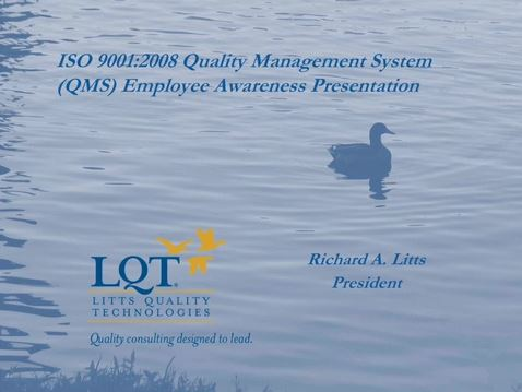 ISO 9001:2008 Awareness Video Thumbnail